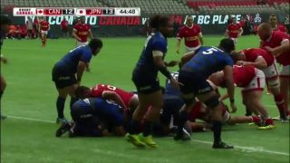 Japan national rugby union team won Canada
