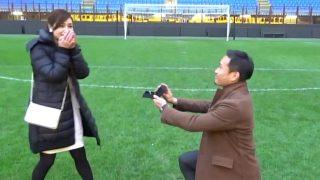Inter Milan Yuto Nagatomo married Airi Taira & proposed at San Siro